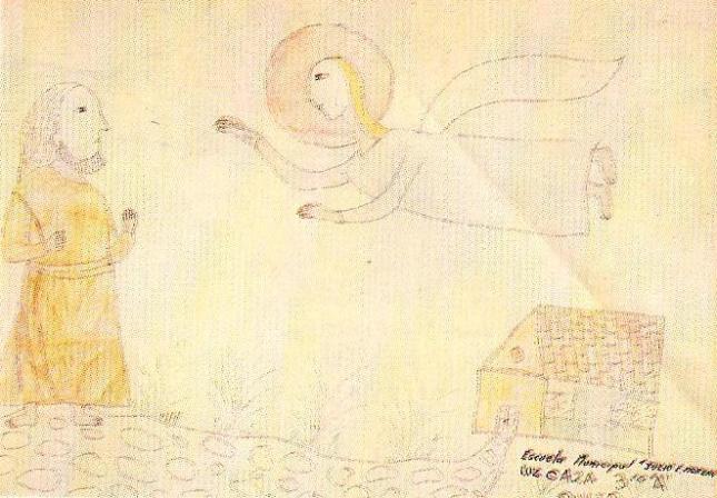 Ο Ιησούς του Ναυή και ο Άγγελος (Λουθ Κάθα 9 χρ. Κουΐτο Εκουαντόρ)