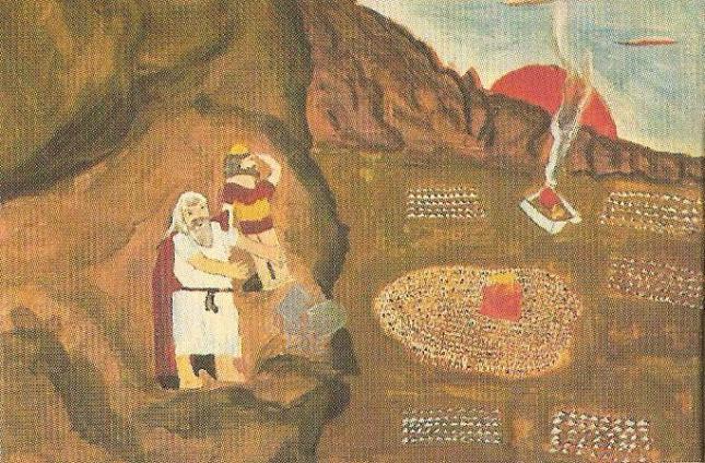 Ο Μωυσής σπάει τις πλάκες με τις 10 εντολές (Μοκέ κνιέκι 13 χρ. Τόκυο Ιαπωνία)